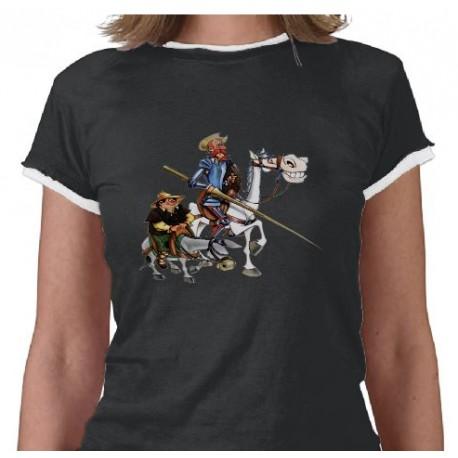 QUIJOTE, SANCHO, ROCINANTE- Cervantes Camiseta